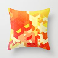 Throw Pillow featuring Geometric Hero 3 by Head Glitch