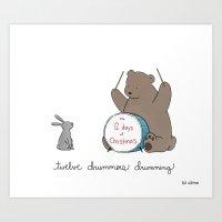 Twelve Drummers Drumming… Art Print