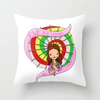 EVERYTHING IS SHINY, Kaylee Frye Throw Pillow