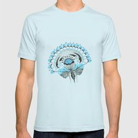 Blu(m)e Mens Fitted Tee Light Blue SMALL