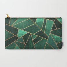 Emerald and Copper Carry-All Pouch