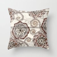 Coffee & Cocoa - Brown &… Throw Pillow