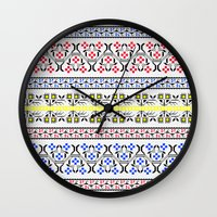 Folk Embroidery Wall Clock