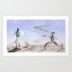 The Company Attacks  Art Print
