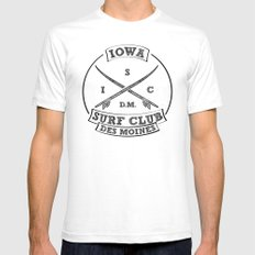 Iowa Surf Club Mens Fitted Tee White SMALL