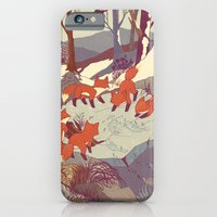 fox iPhone & iPod Cases featuring Fisher Fox by Teagan White