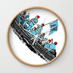Team Zissou Crossing the Delaware Wall Clock