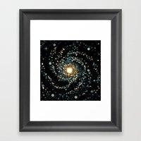 Pinwheel Galaxy M101 (8bit) Framed Art Print