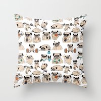 Pugsgym Throw Pillow