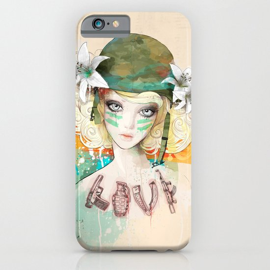 War girl iPhone & iPod Case