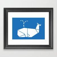 White Whale Framed Art Print
