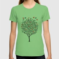 Out On a Lark Womens Fitted Tee Grass SMALL