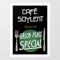 Soylent Cafe's Green Pla… Art Print