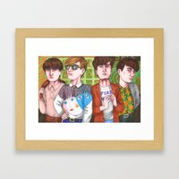 Don't Try To Look Hip, Be Hip! Framed Art Print
