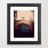 church. Framed Art Print