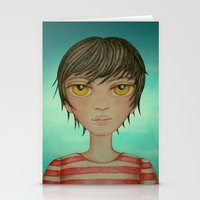 A boy Stationery Cards