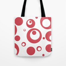 Circles Dots Bubbles :: Inverse Berry Blush Tote Bag
