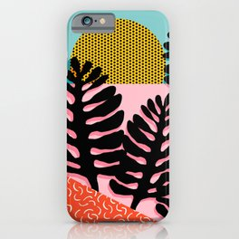iPhone & iPod Case - B.F.F. - throwback 80s style memphis design neon art print hipster brooklyn palm springs resort patt - Wacka