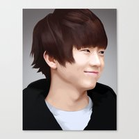 Wooyoung Of 2PM Canvas Print