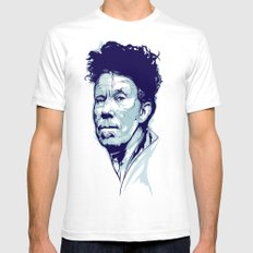 Tom Waits Portrait SMALL White Mens Fitted Tee