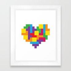 Tetris Heart Framed Art Print