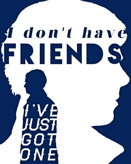 I don't have friends Art Print
