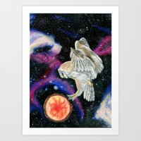 Cosmic Owl 3 Art Print