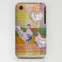 iPhone 3Gs & iPhone 3G Cases featuring Folk art in pastels by Bozena Wojtaszek