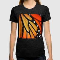 Butterfly Wing Womens Fitted Tee Tri-Black SMALL