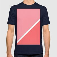 Modern Minimalist Geomet… Mens Fitted Tee Navy SMALL