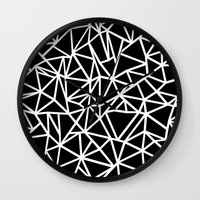 Abstract Outline Thick W… Wall Clock