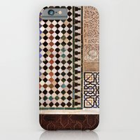 Details in The Alhambra Palace. Gold courtyard iPhone 6 Slim Case