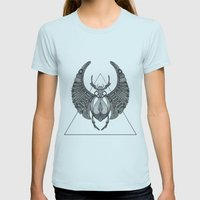 Scarab Womens Fitted Tee Light Blue SMALL