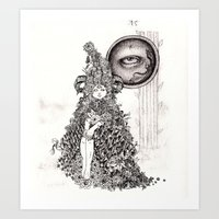 The Other Side (Black and White) Art Print