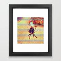 Radioactive spider Framed Art Print