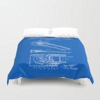 Skee Ball Patent - Blueprint Duvet Cover