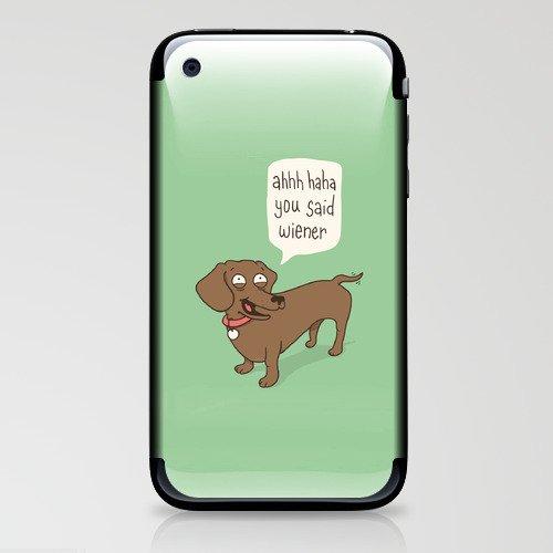 Immature Dachshund iPhone & iPod Skin