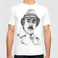 Inspector Clouseau Mens Fitted Tee White SMALL