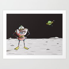 On the moon 3 Art Print