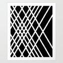 JUST LOVELY- Black Art Print