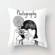 Photo Takes Woman Throw Pillow