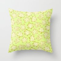 Wallflower - Butter Yellow Throw Pillow