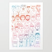 So Many People Art Print