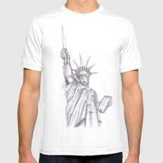C3PO Liberty White SMALL Mens Fitted Tee