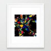 Geometric Splash Framed Art Print