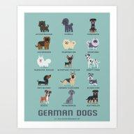 GERMAN DOGS Art Print