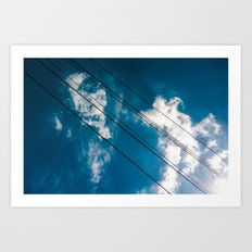 Lines in the sky Art Print