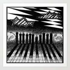 descending of night at the factory Art Print