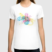 CMY Reptiles Womens Fitted Tee White SMALL