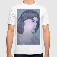 JANE BURDEN STUDY Mens Fitted Tee Ash Grey SMALL